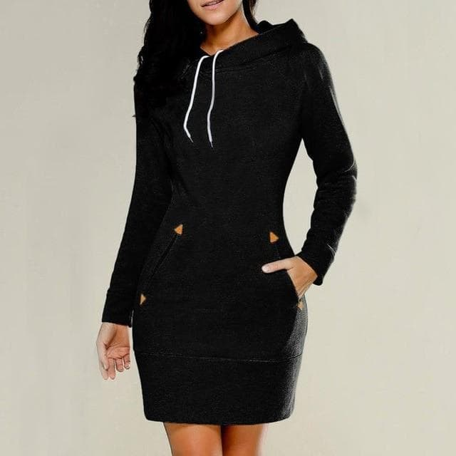 Makenna Long Sleeve Hoodie Dress