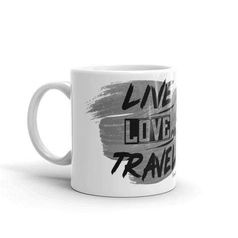 "Caneca Mug ""Live Love Travel"""