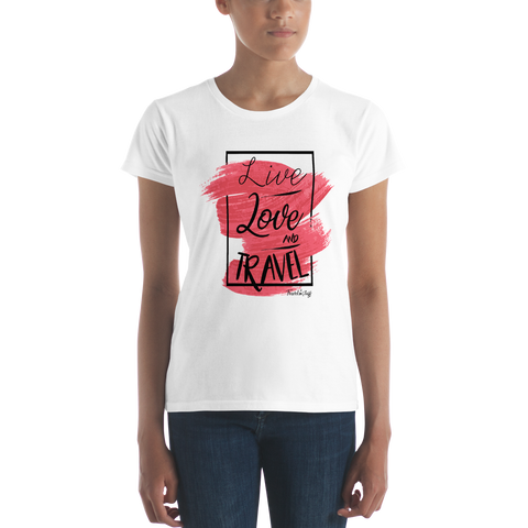 "Camisa Babylong ""Live Love Travel"" Woman"