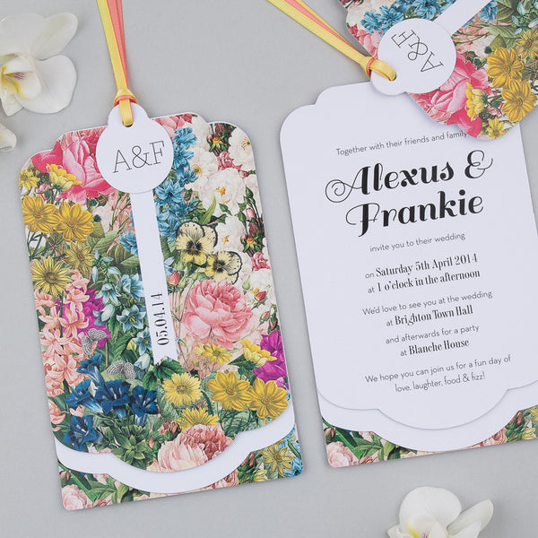 Sample - Blooms Luxe Invitation in Summer