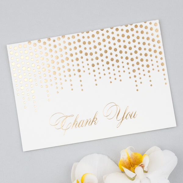 Corinthia Thank You Cards in Gold, Silver & Lilac foils, pack of 10