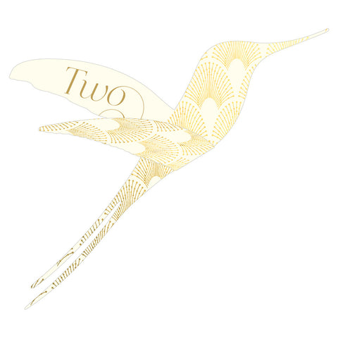 Pack of DECOdence Foil Hummingbird Table Numbers