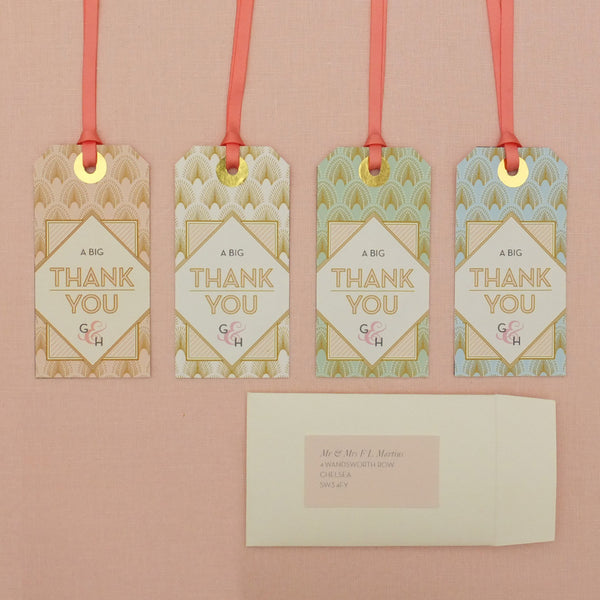 DECOdence Thank You Luggage Tag