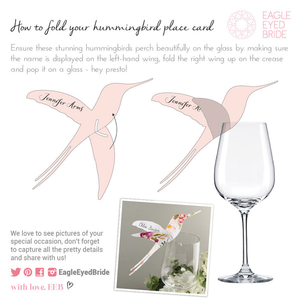 Sample - DECOdence Wine Glass Place Card in Pale Blue