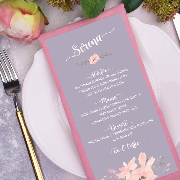 Ethereal Combined Classic Menu & Place Card