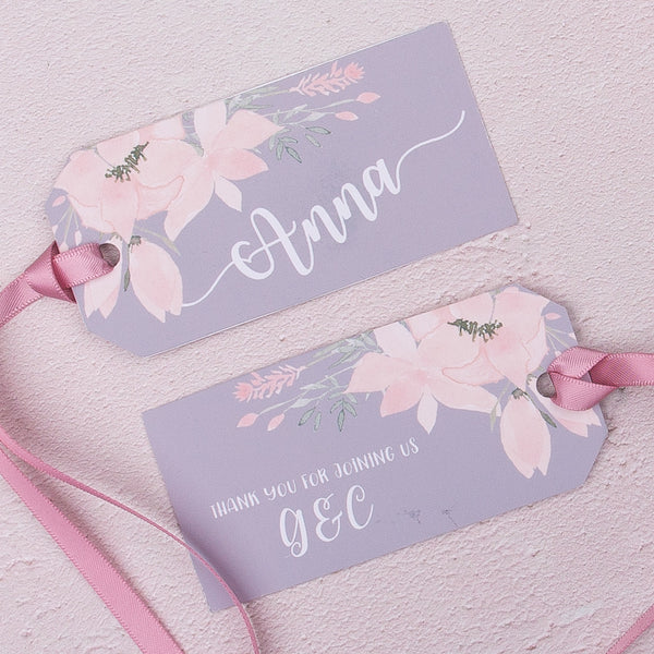 Ethereal Luggage Tag Place Card, personalised