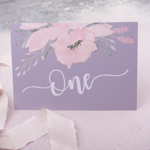 Ethereal Bespoke Table Names or Numbers