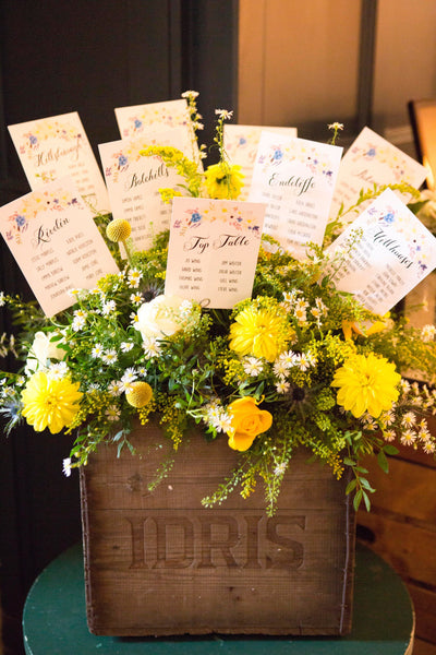 Floral Affair Table Plan Cards & Table Names/Numbers