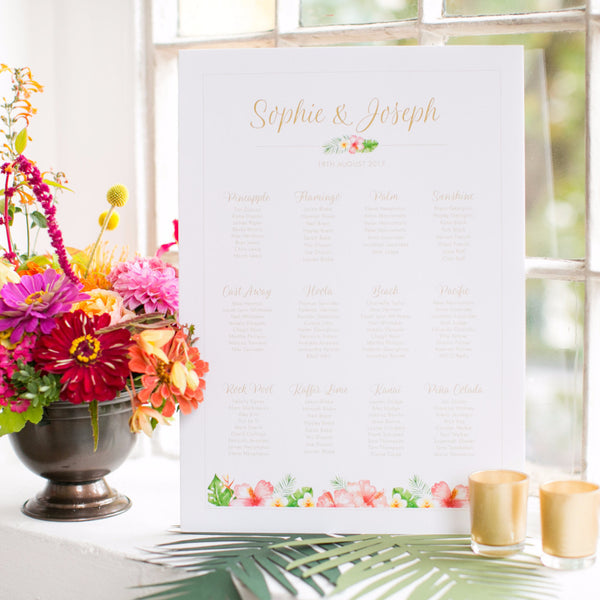 Tropicana Classic Table Plan