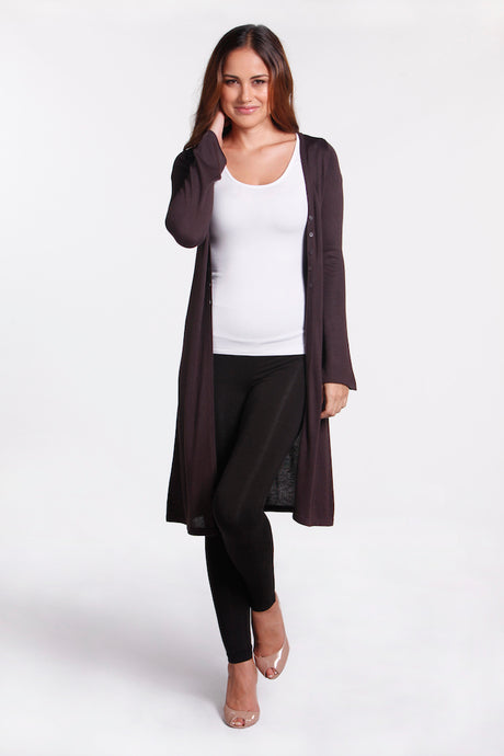 Bamboo Cashmere Long Cardi - Medium only