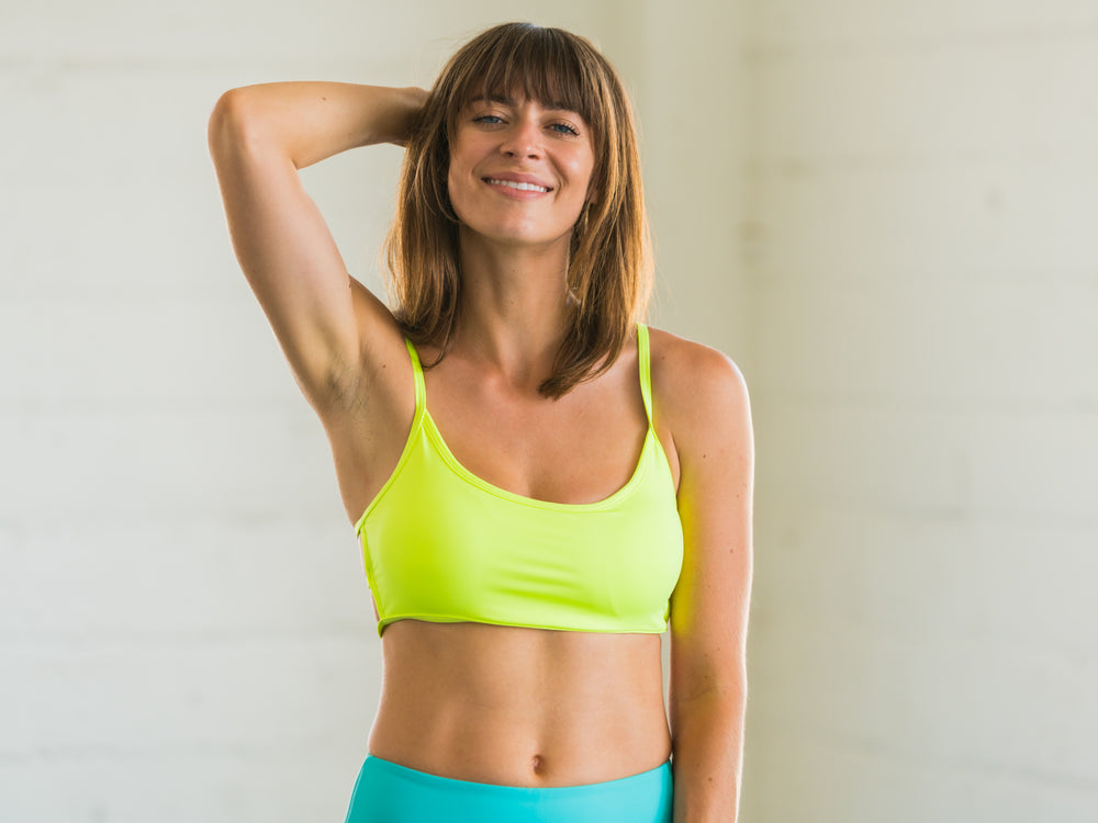 Neon Yellow Sports Bralette
