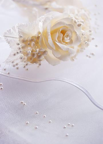 Single White Rose, Door Cover - Door Decoration