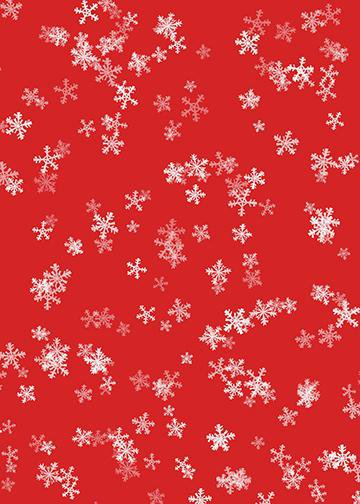 Snowflakes on Red Wallpaper, Door Cover - Door Decoration