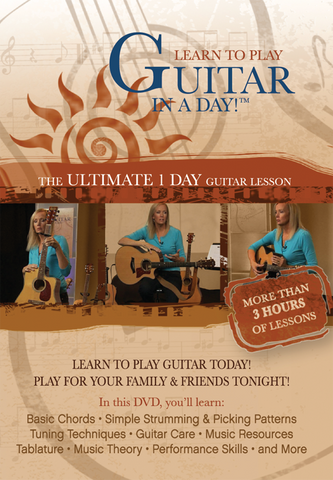 """Learn to Play Guitar in a Day!""™ 2 DVD set and companion book"