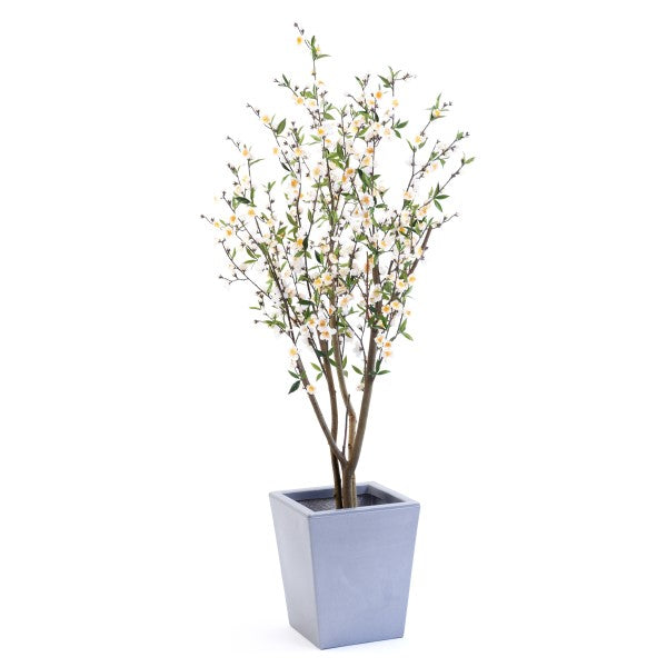 Artificial Cherry Blossom Tree - White