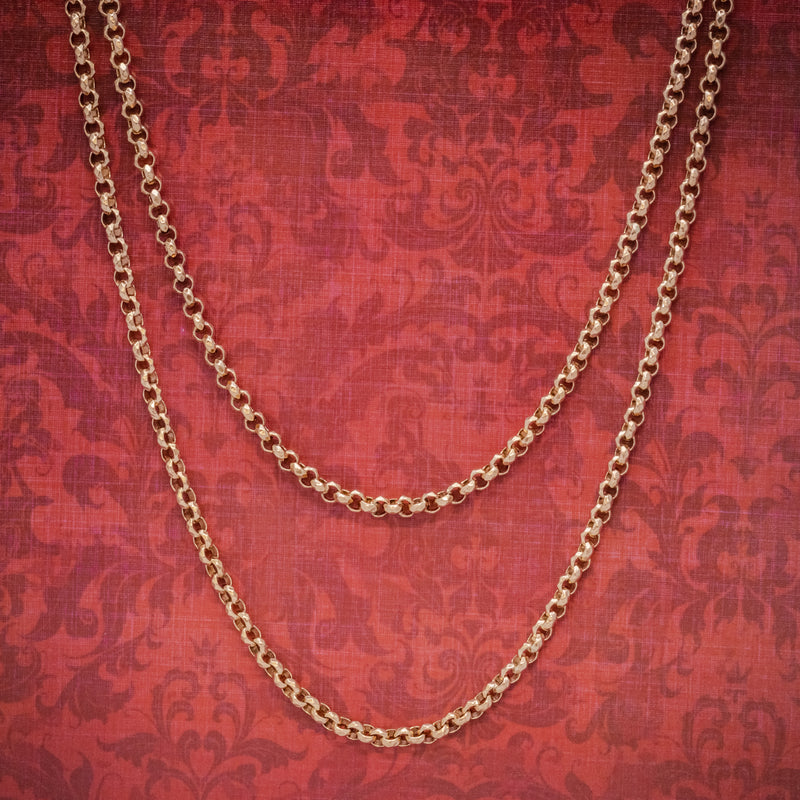 Antique Edwardian Gold Cased Belcher Guard Chain Dated 1903 cover