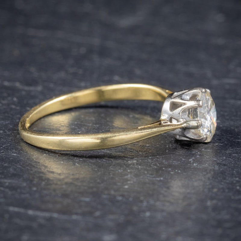 Antique Victorian Diamond Solitaire Engagement Ring 18ct Gold Circa 1900 side2