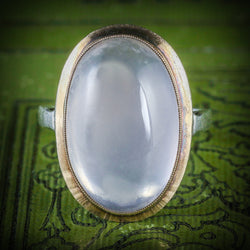 ANTIQUE VICTORIAN MOONSTONE GOLD RING CIRCA 1900 COVER