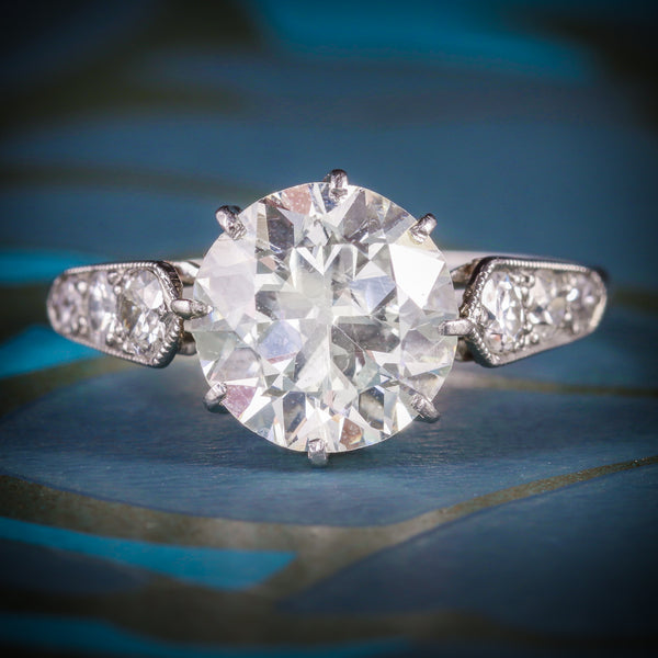ART DECO DIAMOND SOLITAIRE RING PLATINUM ENGAGEMENT RING CIRCA 1920 COVER