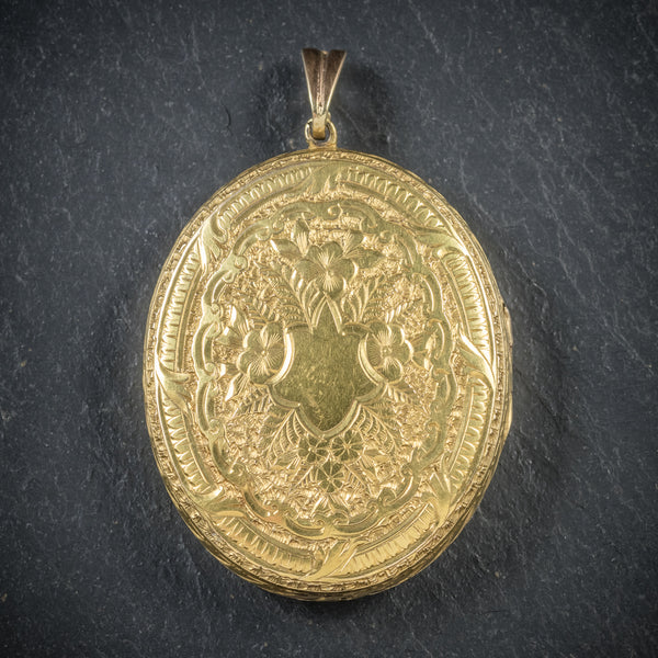 Antique Victorian 9ct Gold Locket Circa 1900 front