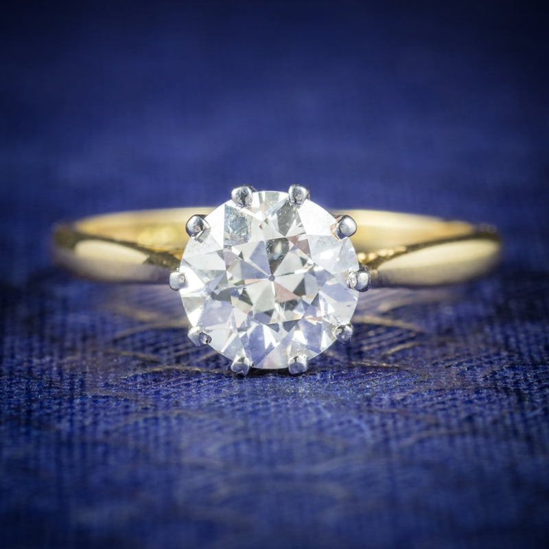 Antique Victorian Diamond Engagement Ring 18ct Gold Circa 1900 cover