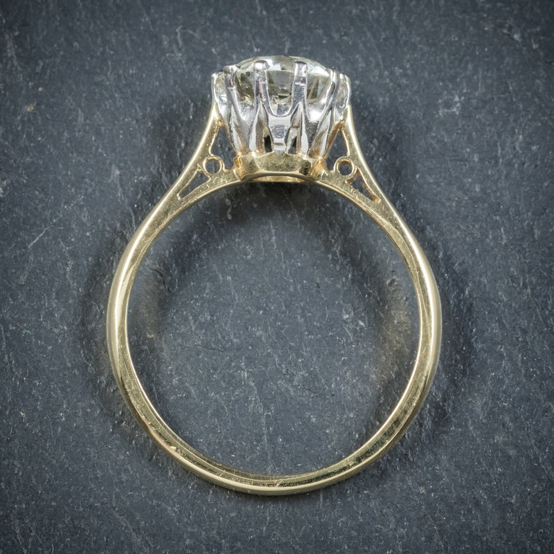 Antique Victorian Diamond Engagement Ring 18ct Gold Circa 1900 top