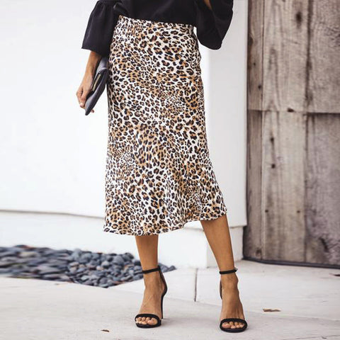 Sexy Leopard Print High Waist Skirt