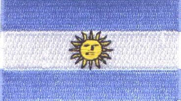 "Argentina Flag Patch 1.5"" x 2.5"""