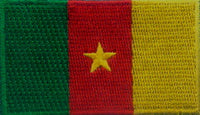 "Cameroon Flag Patch 1.5"" x 2.5"""