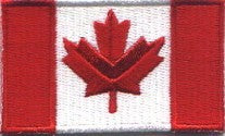 "Canada Flag Patch 1.5"" x 2.5"""