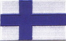 "Finland Flag Patch 1.5"" x 2.5"""