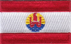 "French Polynesia Flag Patch 1.5"" x 2.5"""