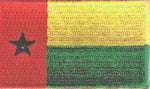 "Guinea-Bissau Flag Patch 1.5"" x 2.5"""