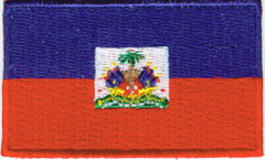 "Haiti Flag Patch 1.5"" x 2.5"""