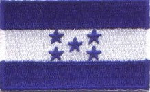 "Honduras Flag Patch 1.5"" x 2.5"""