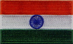 "India Flag Patch 1.5"" x 2.5"""