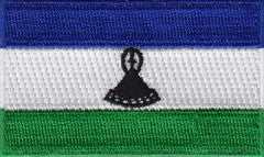 "Lesotho Flag Patch 1.5"" x 2.5"""