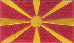"Macedonia Flag Patch 1.5"" x 2.5"""