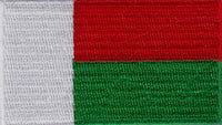 "Madagascar Flag Patch 1.5"" x 2.5"""