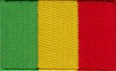 "Mali Flag Patch 1.5"" x 2.5"""