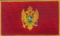 "Montenegro Flag Patch 1.5"" x 2.5"""
