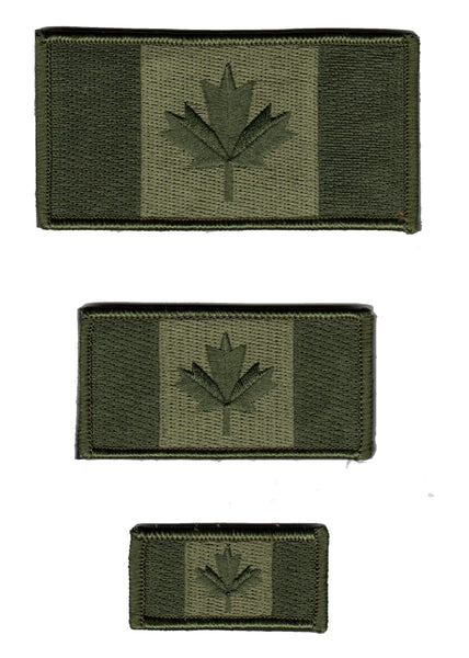 Canada Flag Patch OD / Green / Camouflage Subdued Design