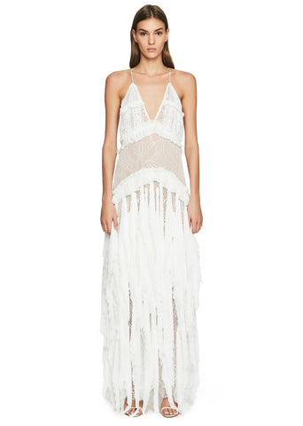 Cascade Pleats Slip Gown
