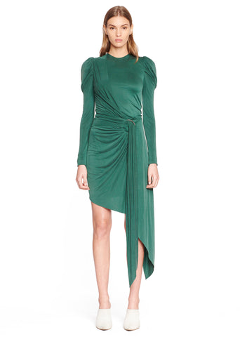 Sueded Jersey Wrap Dress