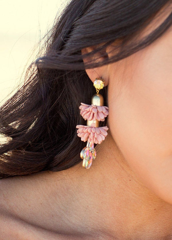 *NEW* Angelina Earrings in Dusty Rose