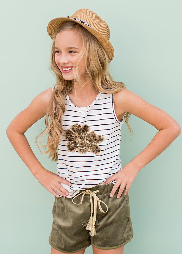 *NEW* Stevie Short Set in Stripe and Olive