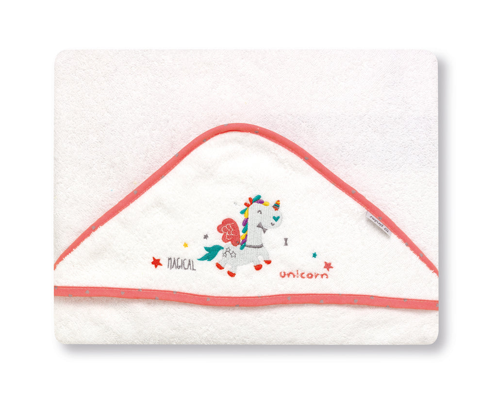 Strawberry Unicorn  <br>Hooded Towel - Mooney's