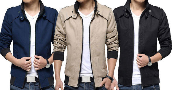 Combo of 3 New Fashionable Cotton Stand Collar Men's Shirts