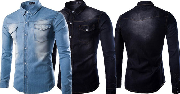 Combo of 2 Branded Worn Single-Breasted Casual Slim Fit Men's Fashionable Shirt