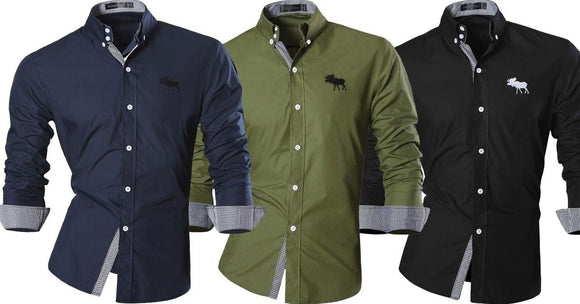 Combo of 3 seasonal Features casual long sleeves Slim Fit Men's jeans Shirts